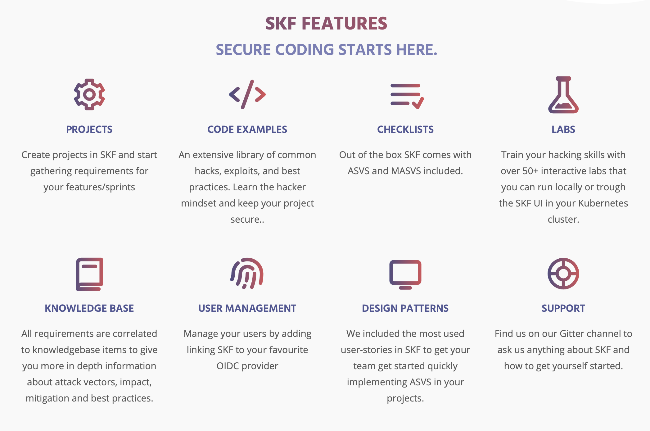 SKF Features