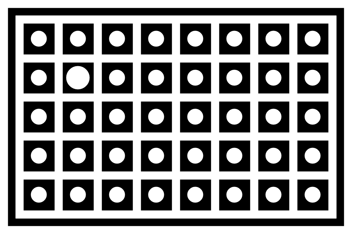 Squared Circle Pattern for Camera Calbration