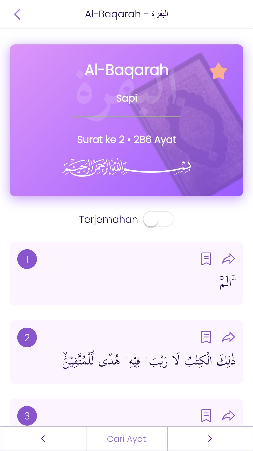 Surah Page