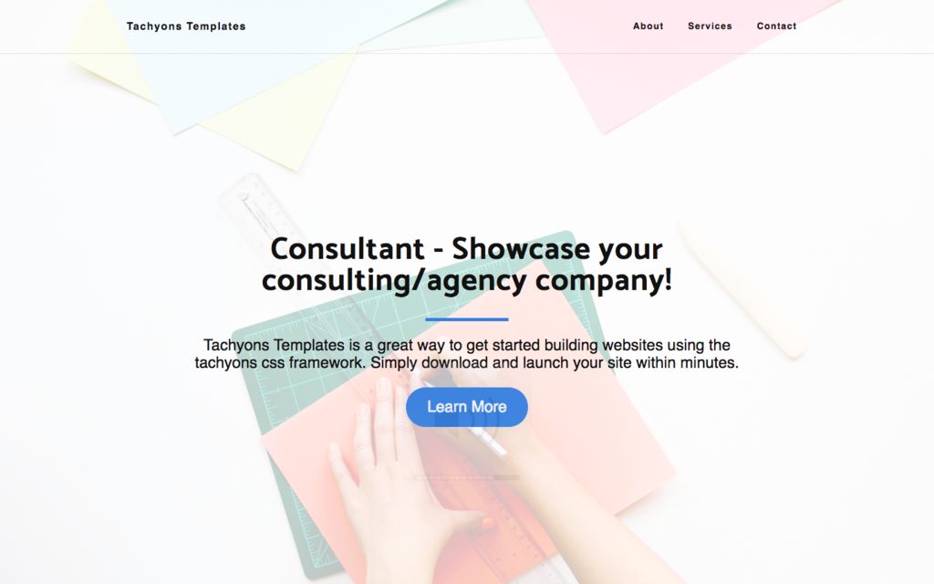 Tachyons Consultant Marketing Site