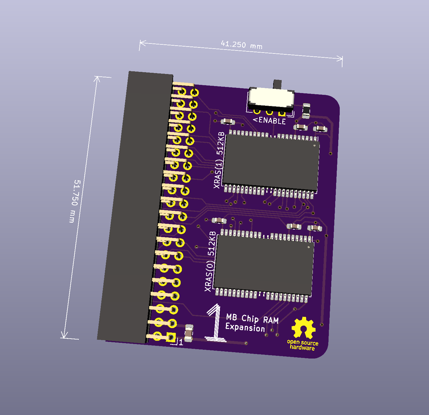 a500plus-chipram board image