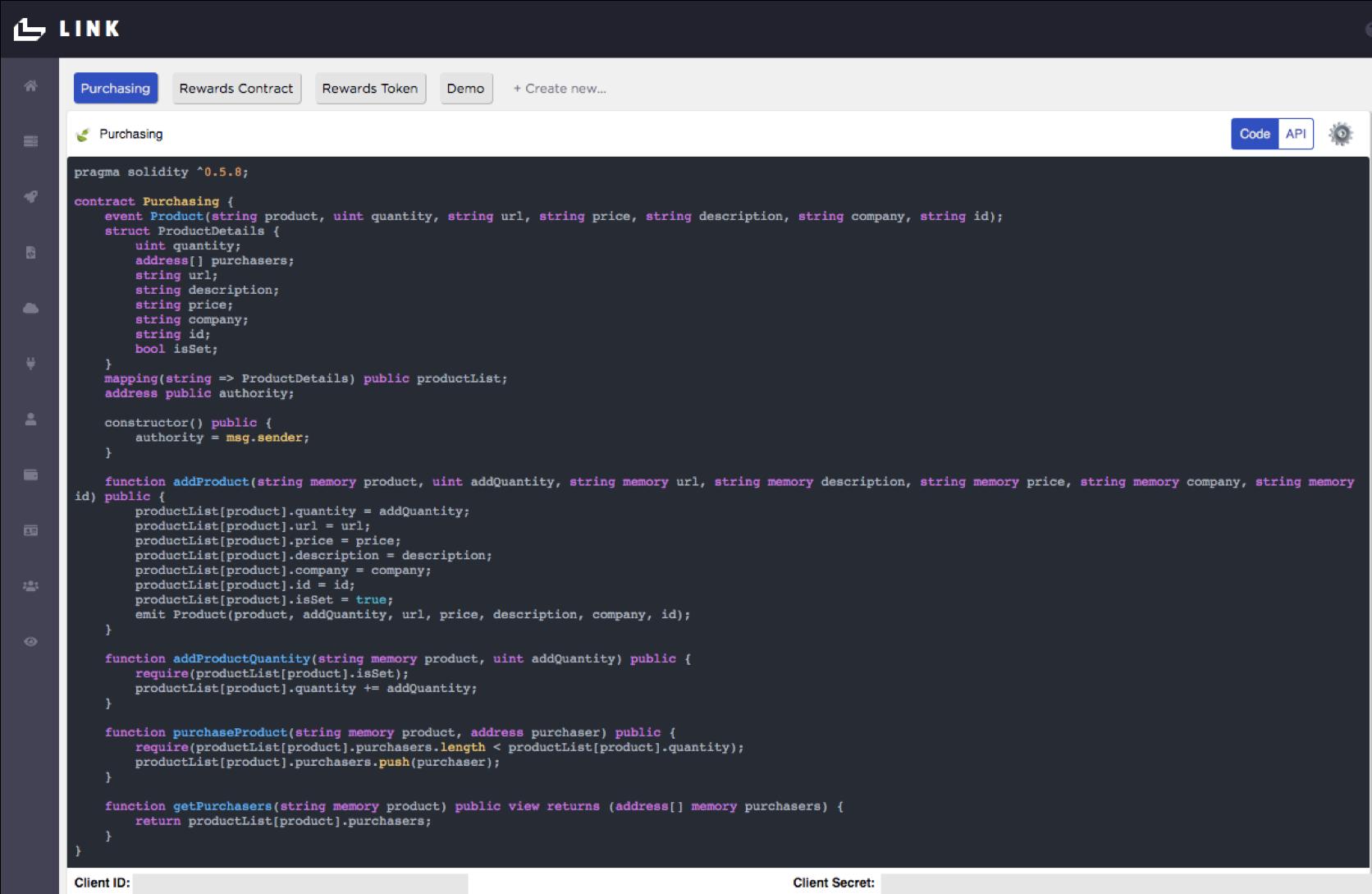 Link API Setup Completed