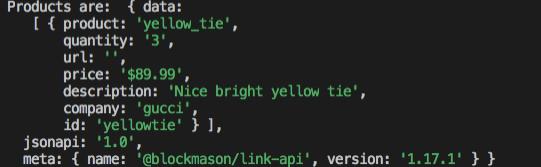 Terminal Output Link JavaScript SDK