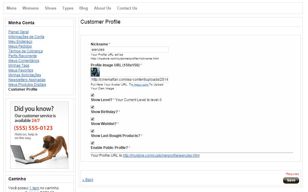 GitHub - blopa/Magento-Customer-Profile: A Magento module that add a ...