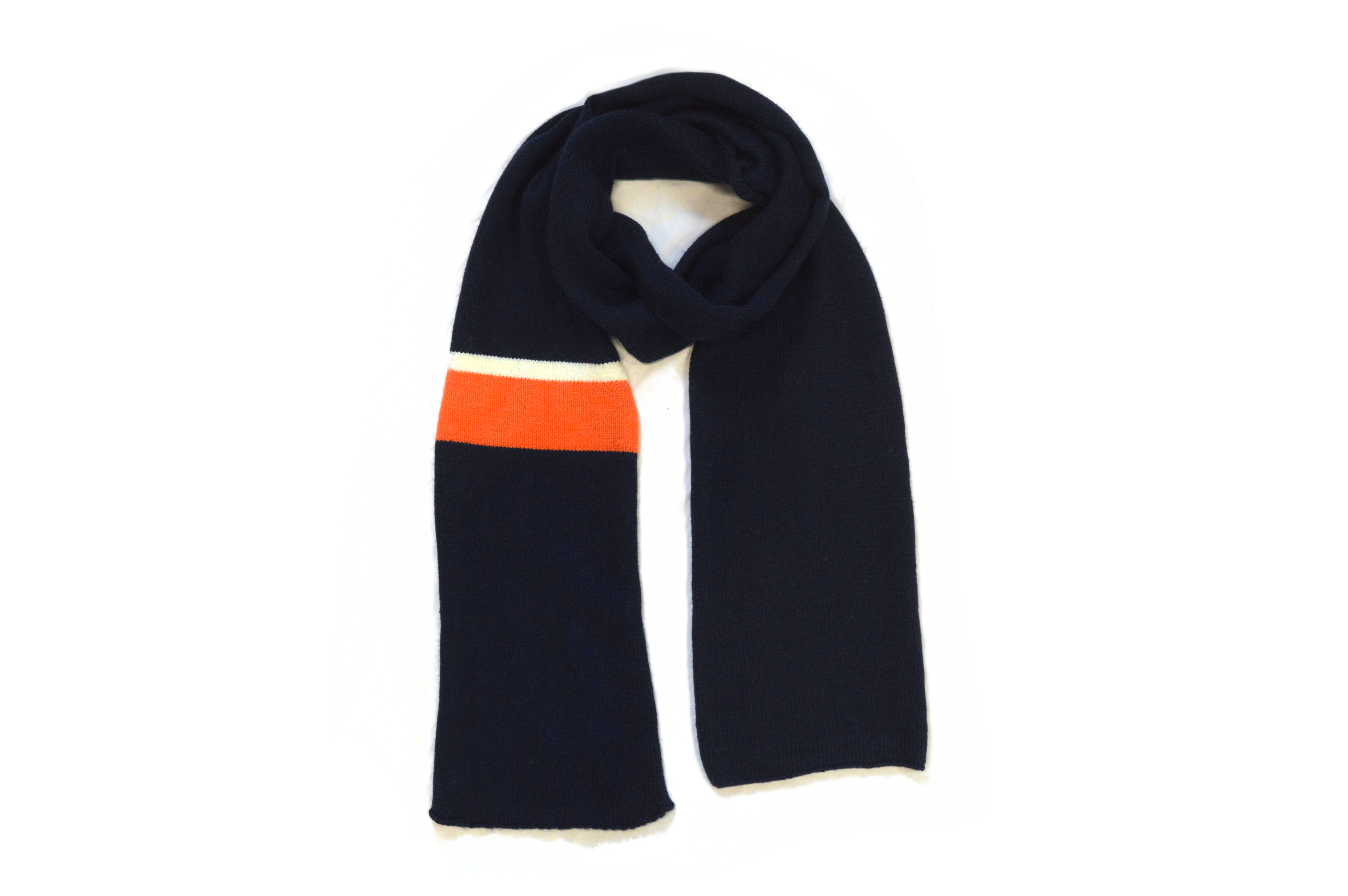Classic Scarf on White Background