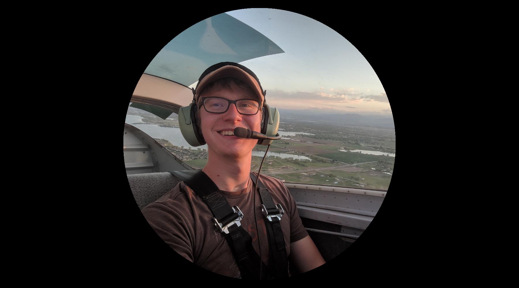 Brooks Mershon flying Kismet (Van's Aircraft RV-6)