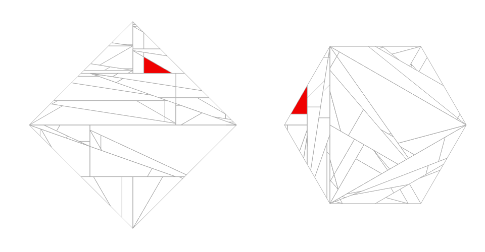 Square to Hexagon equidecomposition