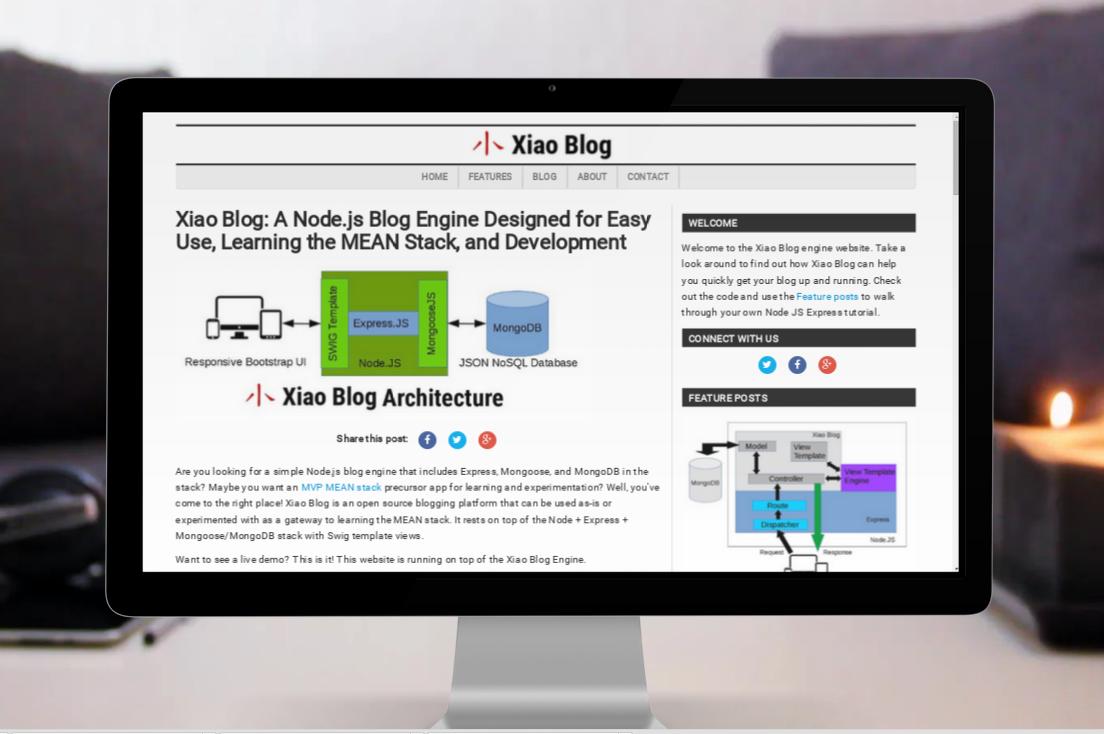 Xiao Blog Engine Screen Shot