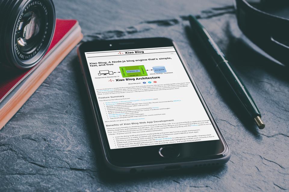 Xiao Blog Engine Responsive Design