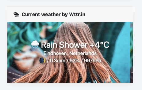 Screenshot of bobdenotter/weatherwidget