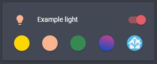 Dark icon color examples
