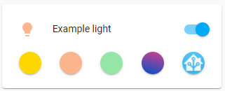 Light icon color examples