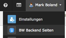 Module under user menu