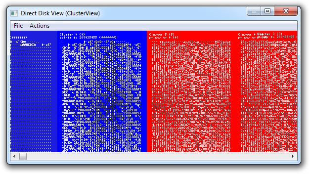 Direct Disk View (ClusterView)