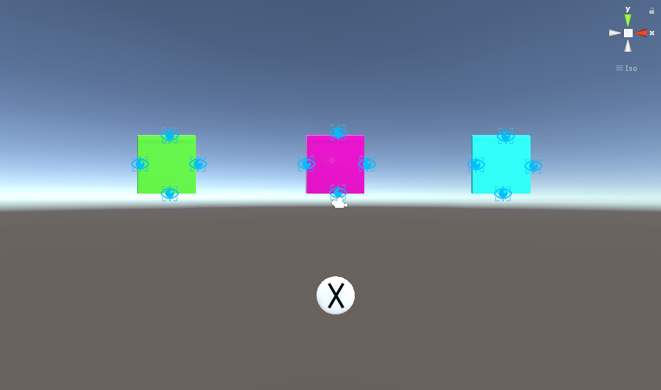 Interface as seen in the Unity engine IDE.