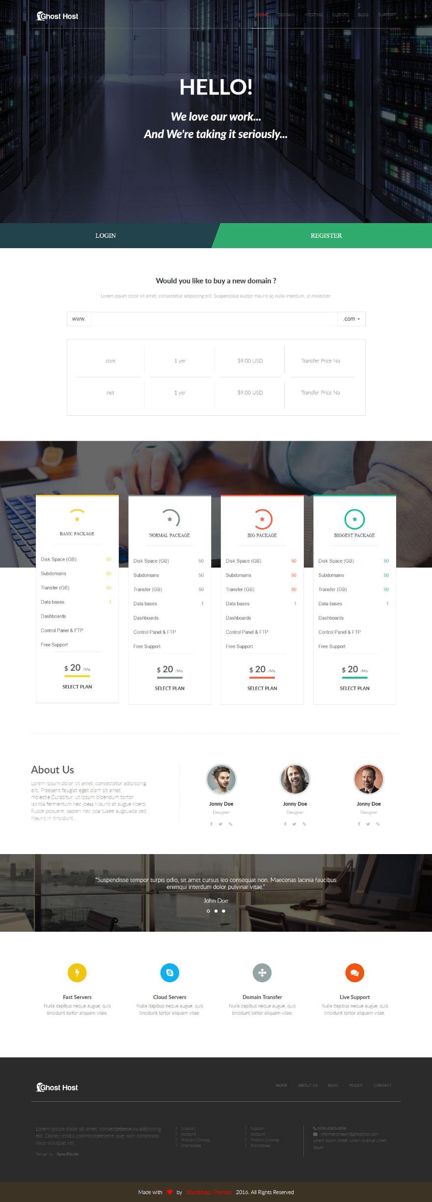Github bootstrapthemescoghost host one page free hosting template gost host one page free template maxwellsz