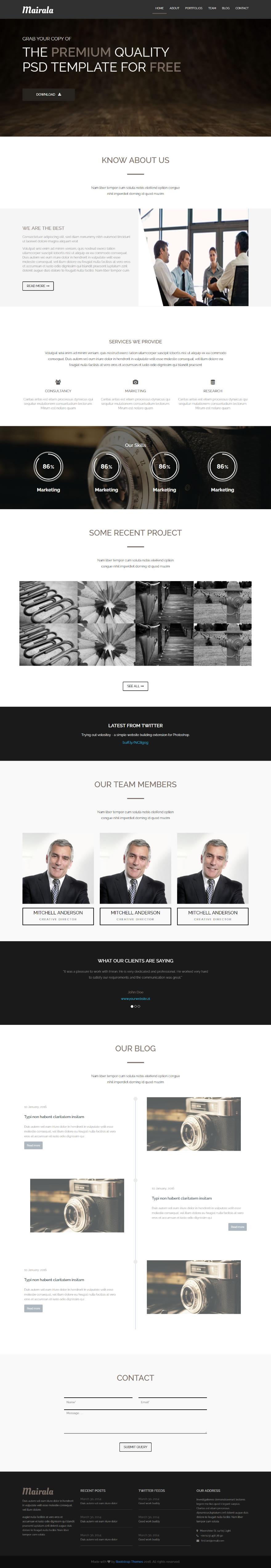GitHub - bootstrapthemesco/mairala-one-page-corporate-agency ...