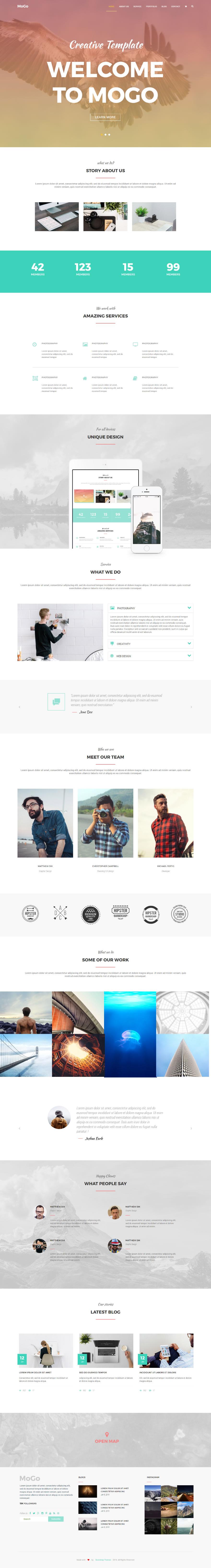 Github Bootstrapthemescomogo Free One Page Html5