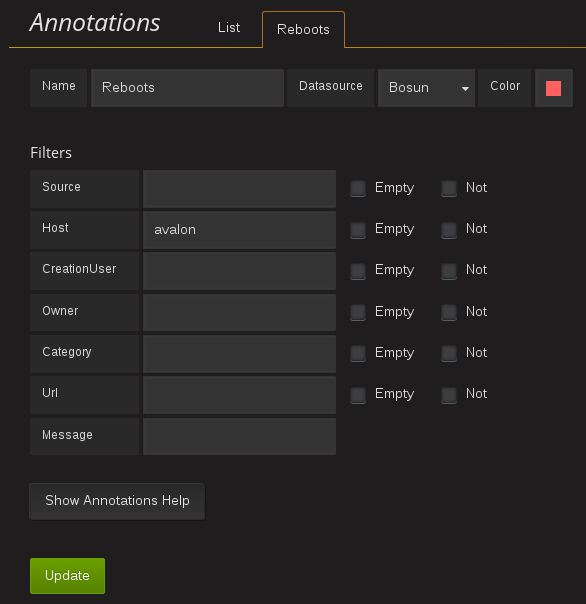 Annotations query