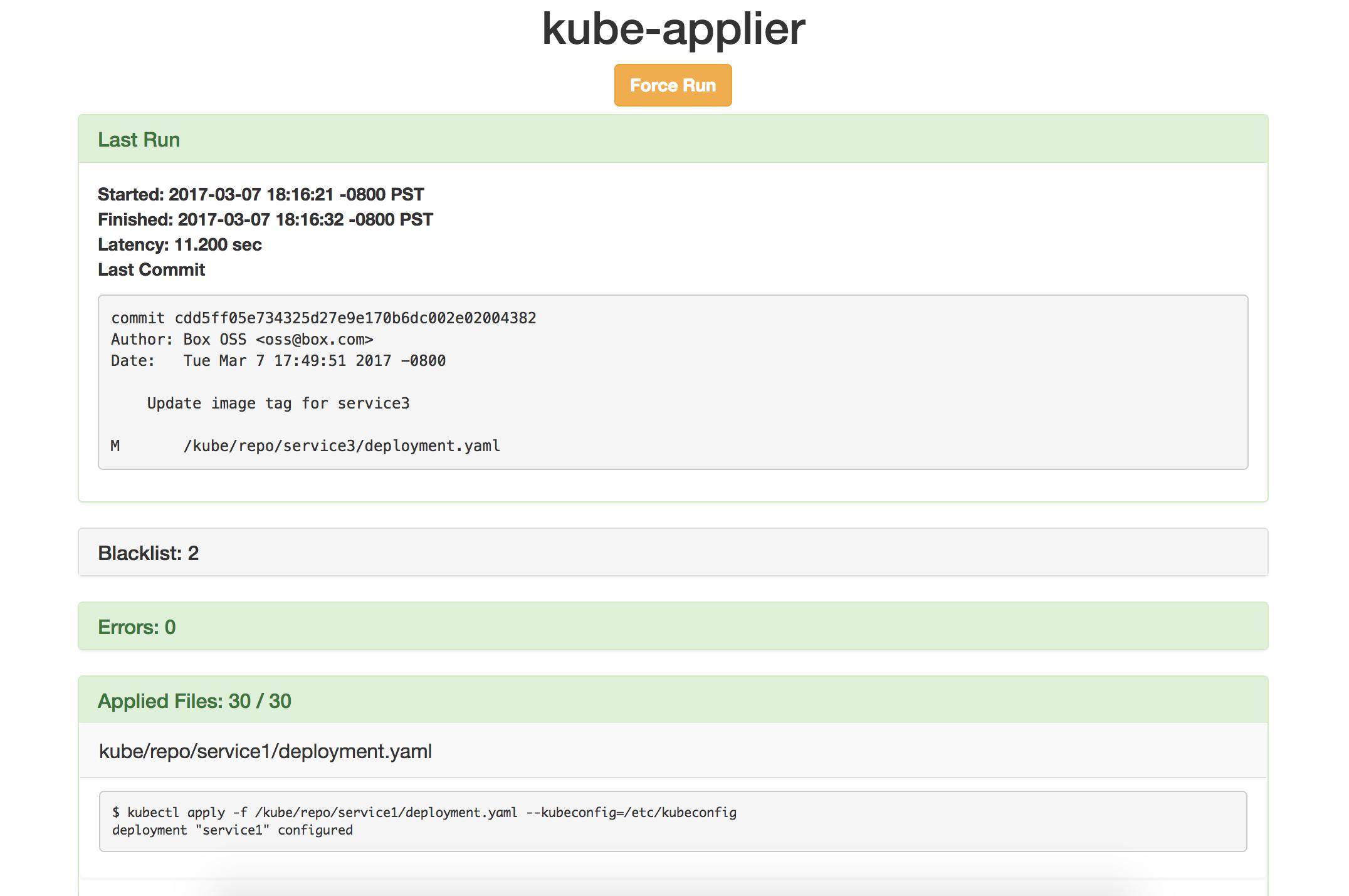 Kube-applier's web UI