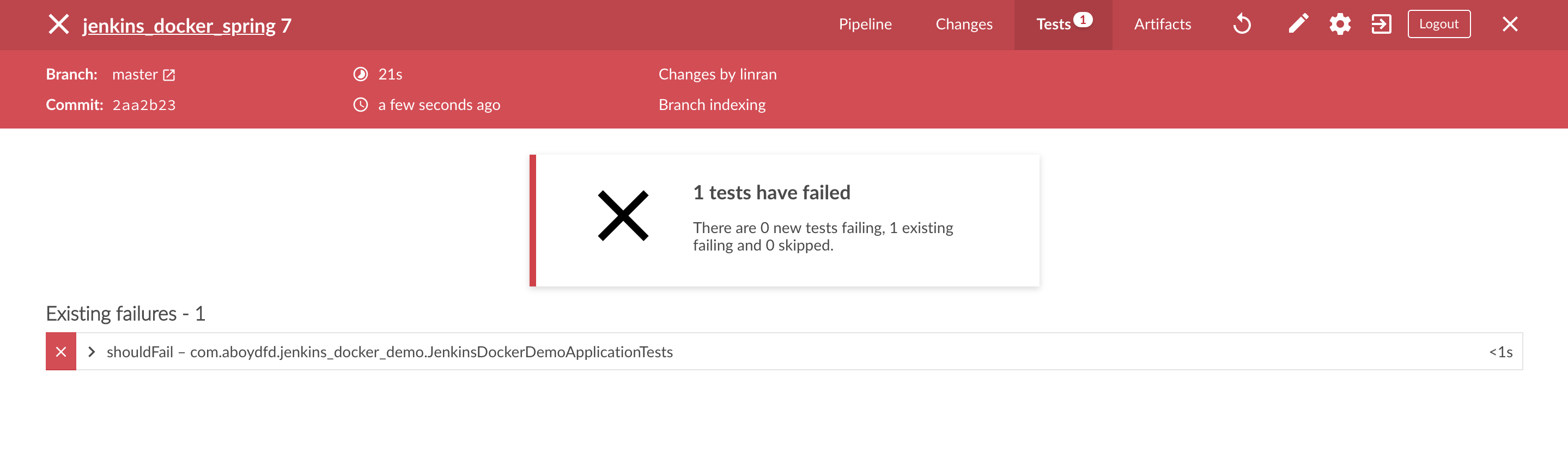 Test fail Report