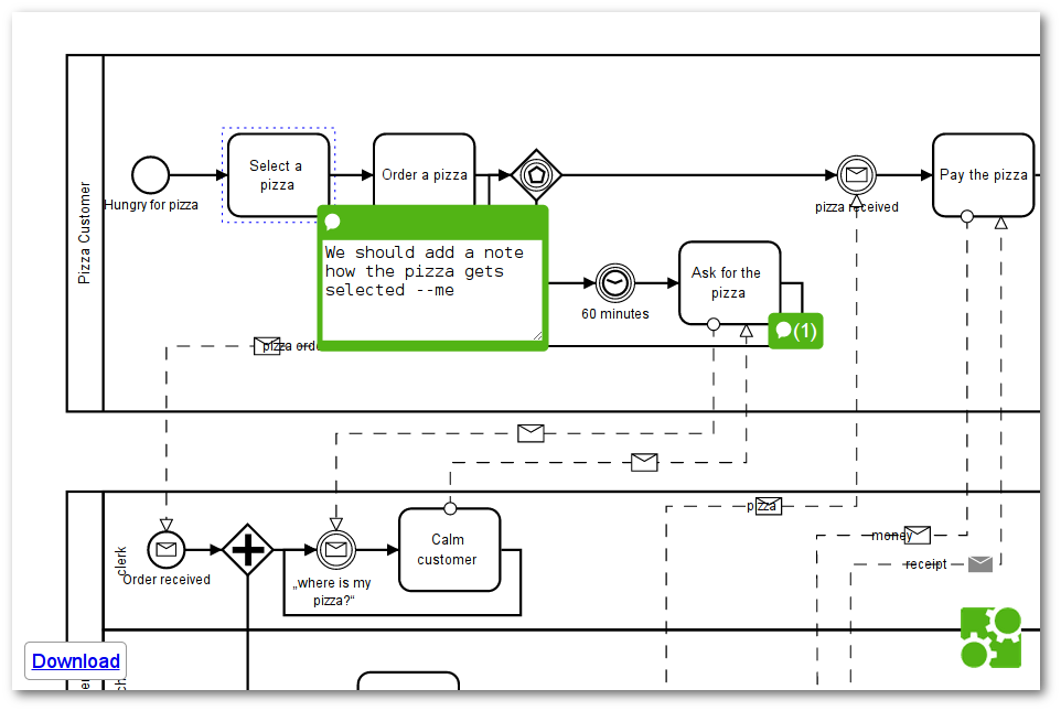 Github bpmn iobpmn js embedded comments simple comments for bpmn js a screenshot of a comments integration ccuart Images