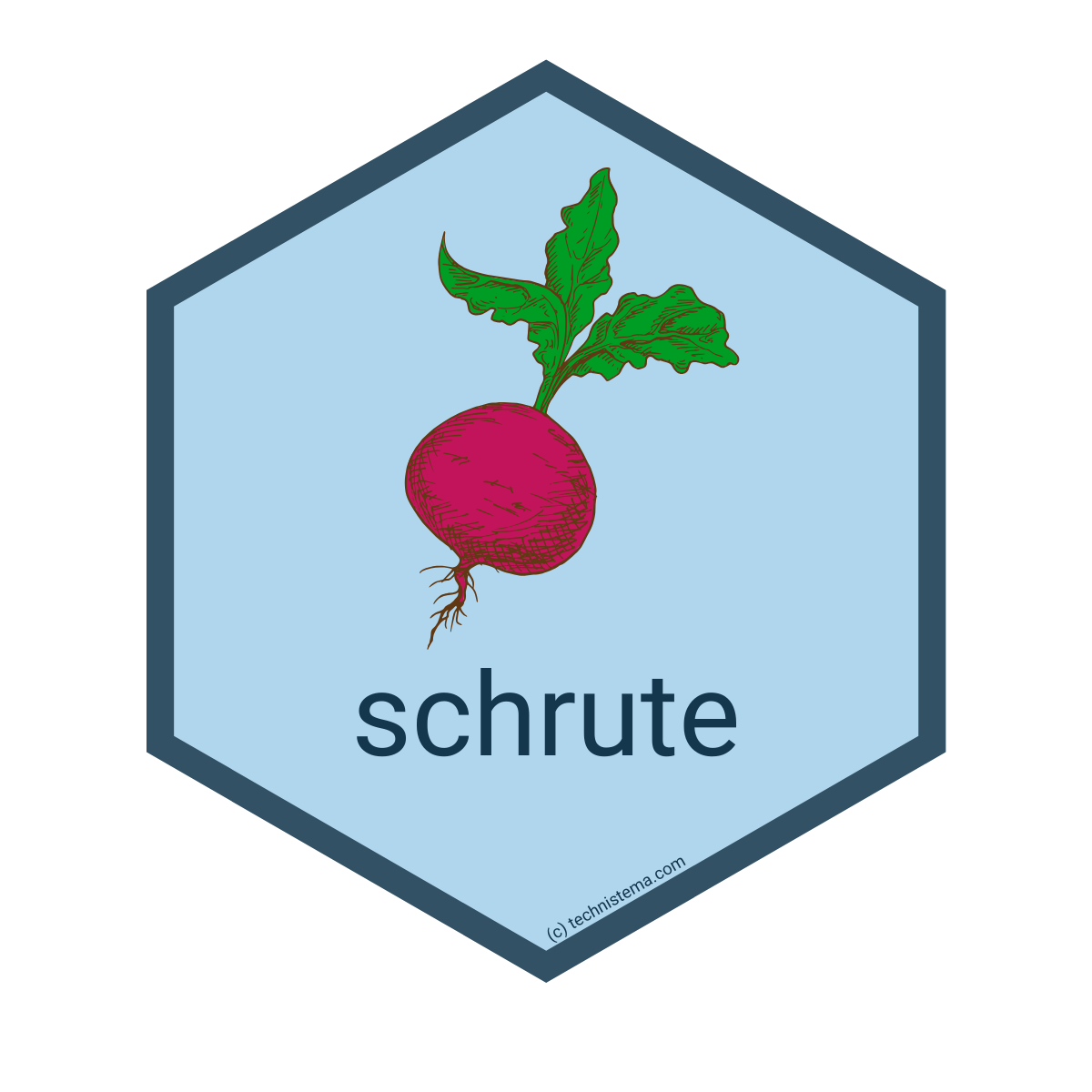 Schrute R package - image of a beet