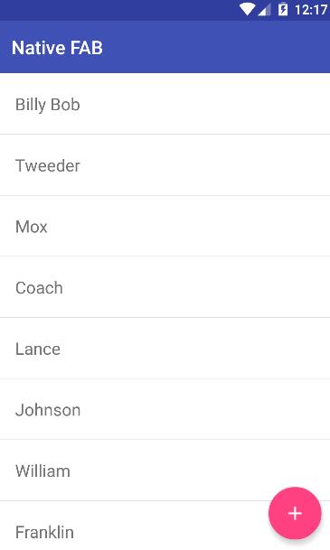 FAB Android Screenshot