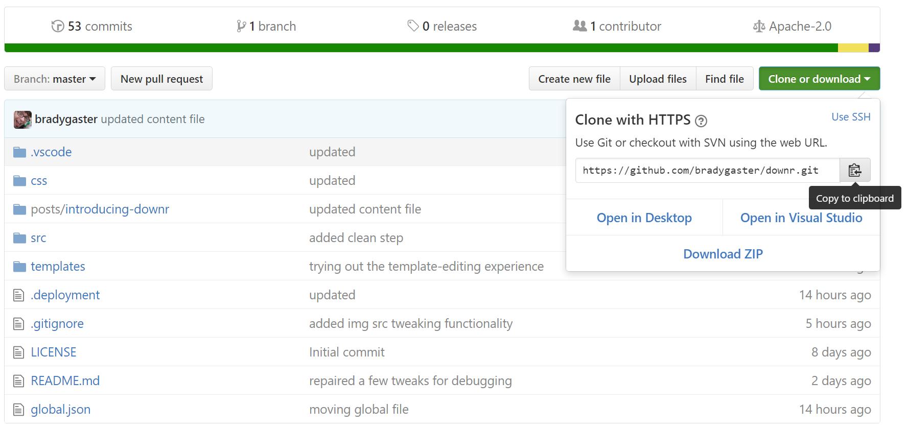 downr repo on GitHub