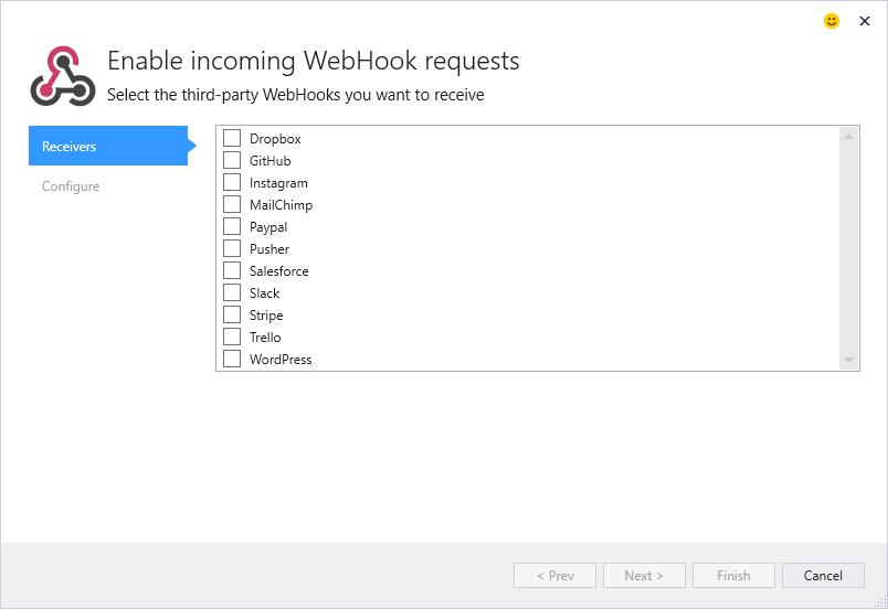 NET WebHooks Connected Service
