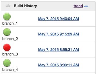 Build History Screenshot