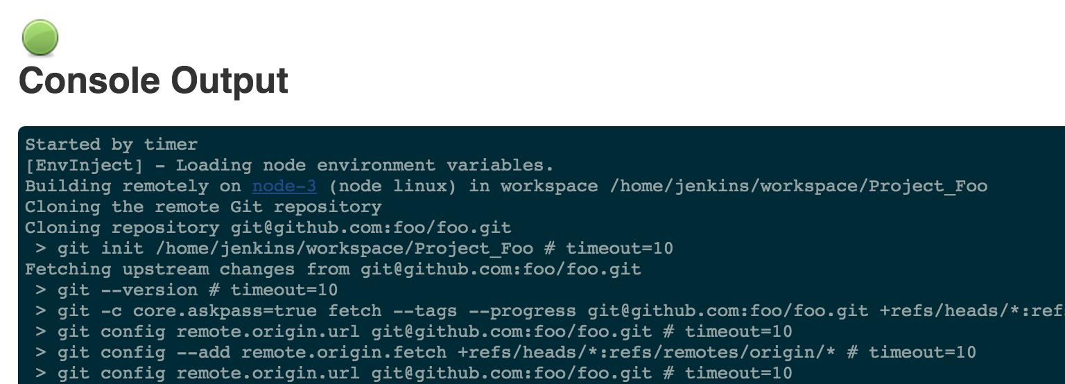 Console Output Screenshot