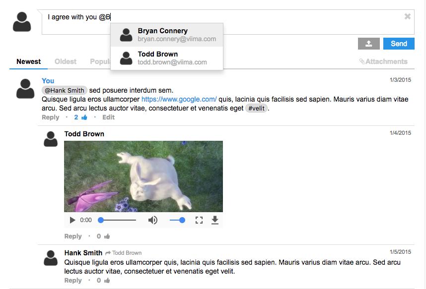 Screenshot of jquery-comments