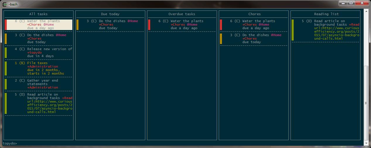 GitHub - bram85/topydo: A powerful todo list application for the