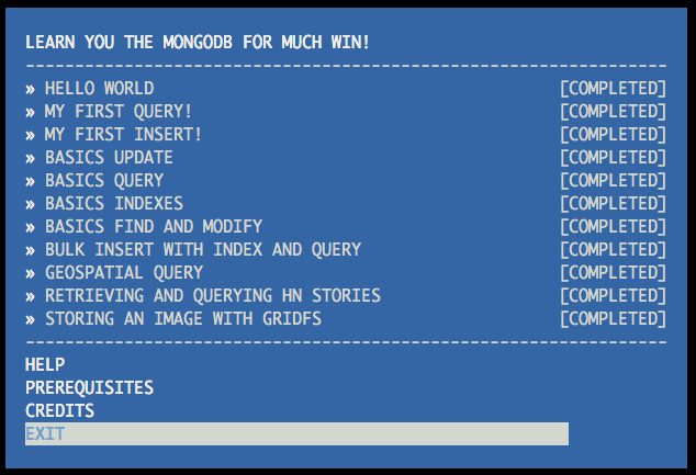 Learn You The MongoDB For Much Win !
