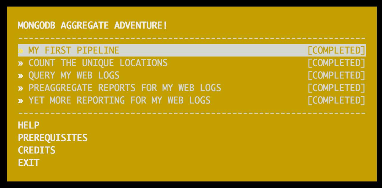 MongoDB Aggregate Adventure !