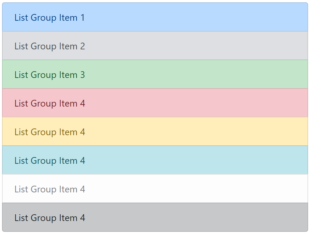 List Group Item Color