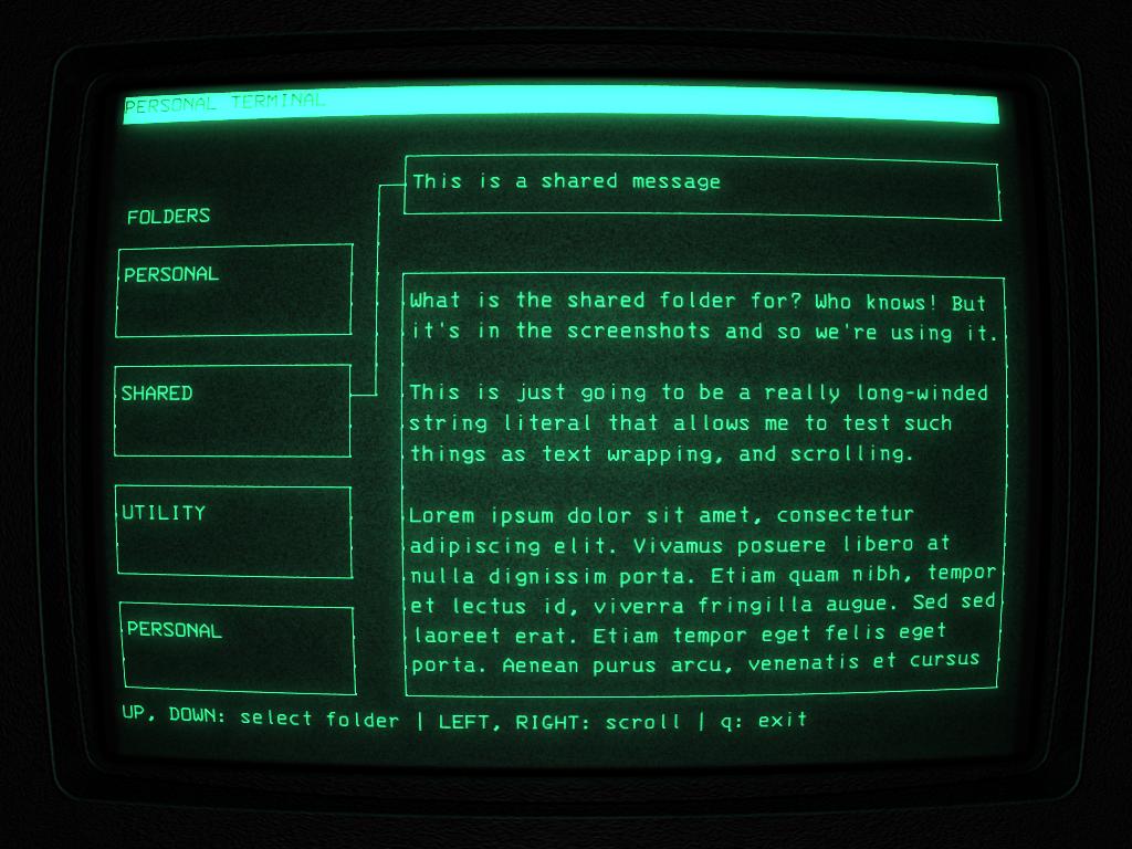 Alien-Console main screen