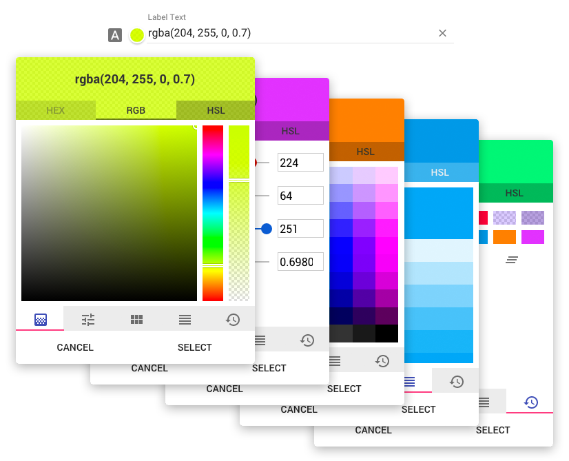 Angular Material Color Picker Uplabs