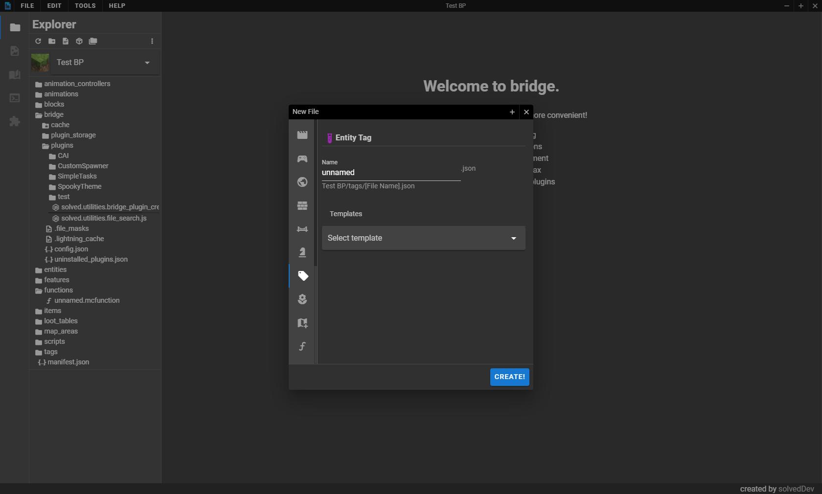 bridge. file creation