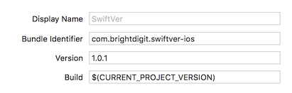 xcode screenshot version 1.0.1