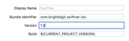 xcode screenshot version 1.0