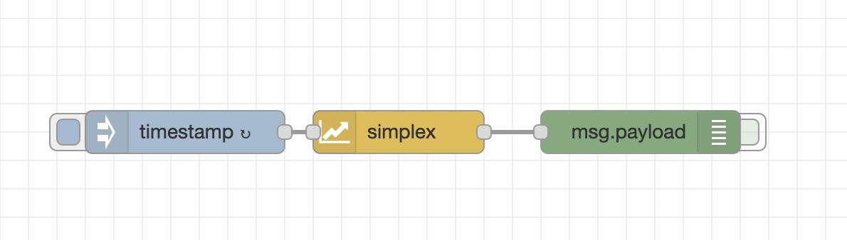 Screenshot of simple example