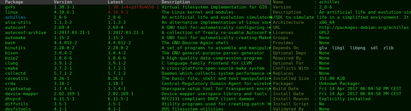 GitHub - brotzeit/arch-packer: Arch Linux package management