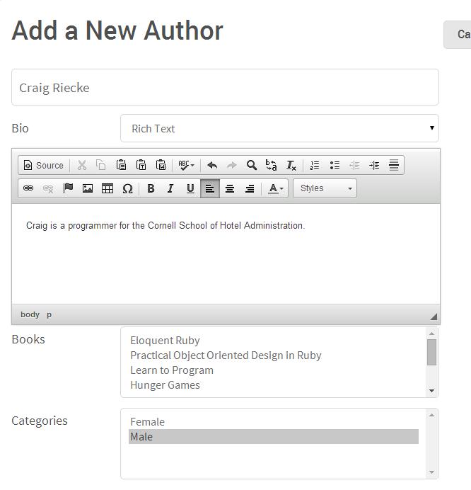 Add Author