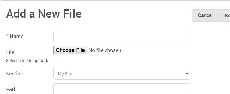 Add File Asset