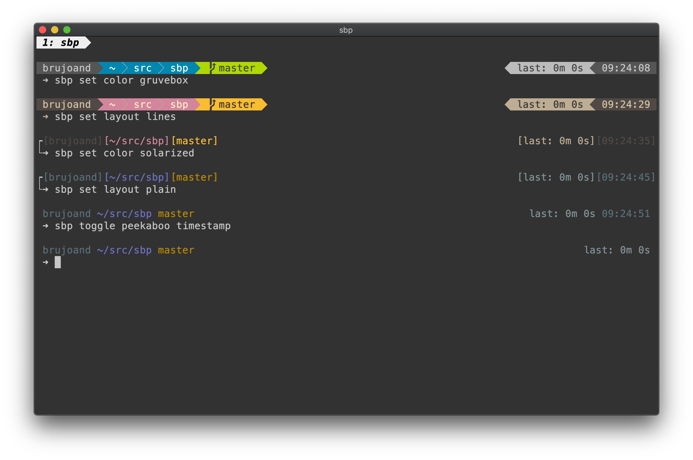 the simple bash prompt