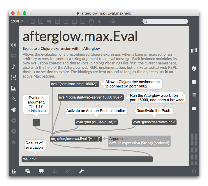 mxj afterglow.max.Eval