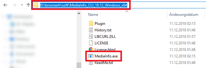 Getting the MediaInfo path
