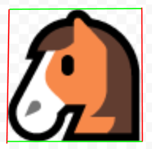 A horse enclosed in a 2D AABB